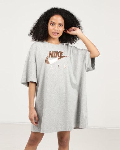 Nike W NSW Oversized Air Dress DK Grey Heather Rose Gold