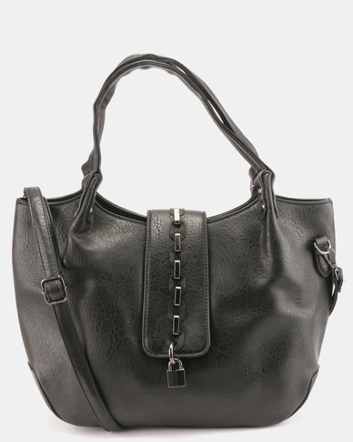 Blackcherry Bag Round Link Detailed Handbag Black