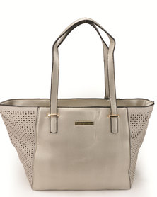 Blackcherry Bag Structured Handbag Metalic Silver