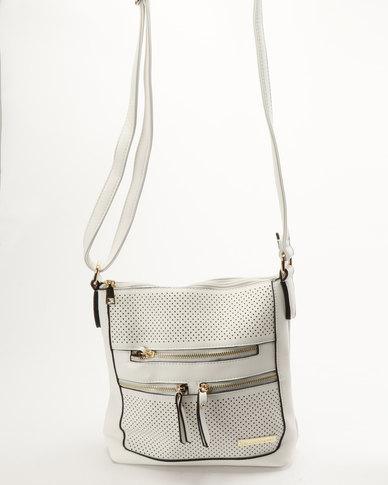 Blackcherry Bag Mini Laser Cut CrossBody Bag White