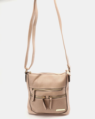 608e25a7df Blackcherry Bag Mini Laser Cut CrossBody Bag Pink Nude