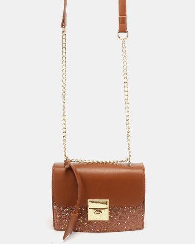 Blackcherry Bag Glam CrossBody Bag Tan