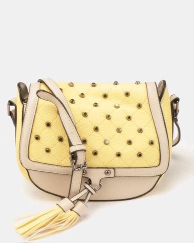 Blackcherry Bag Studded CrossBody Bag Butter Yellow