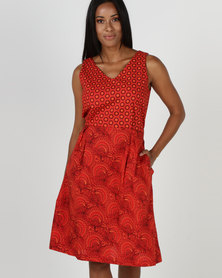 SHWE The Wearable Library Marthie Dress Red