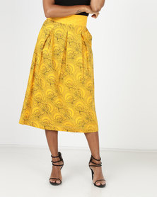 SHWE The Wearable Library Victoria High Waisted Skirt Yellow