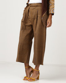 SHWE The Wearable Library Sophie Wide Trousers Yellow