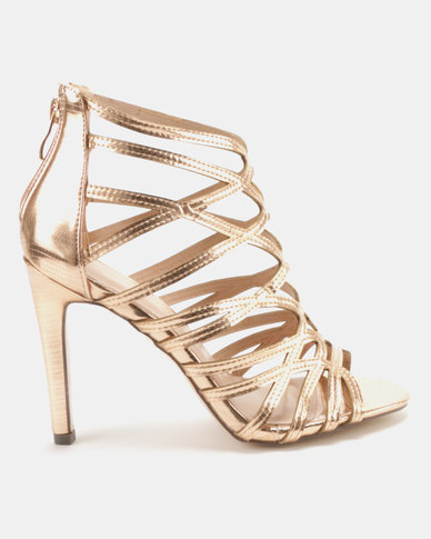 Sissy Boy Gladiator Hybrid Sandals Rose Gold