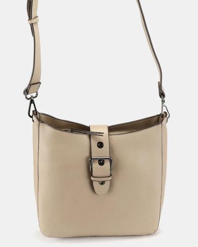 Bata Buckled Shoulder Bag Taupe