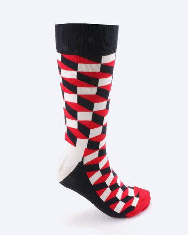 Happy Socks Stripped 4 Pair Gift Box Multi