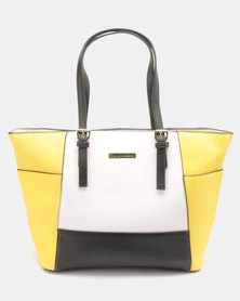 Blackcherry Bag Colour Block Handbag Primrose Yellow