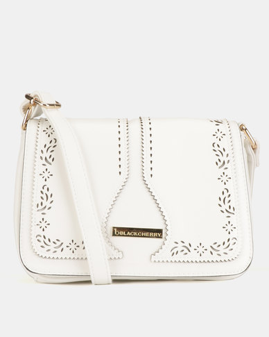 Blackcherry Bag Western CrossBody Bag White