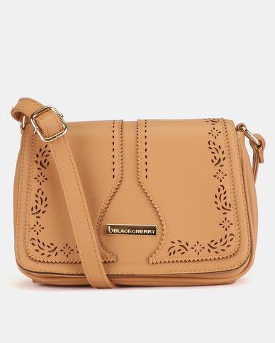 Blackcherry Bag Western Crossbody Tan