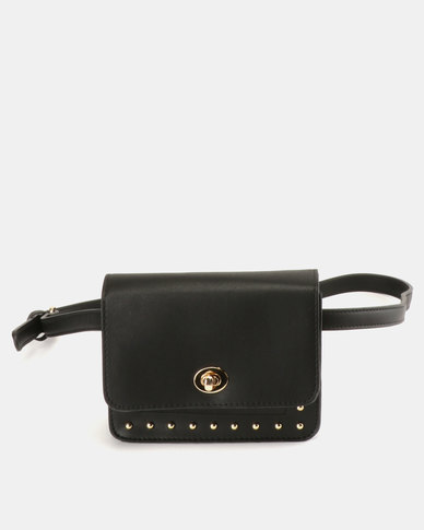 Blackcherry Bag Studded Bag Belt Bag Black