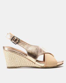 SOA Preston Wedges Rose Gold
