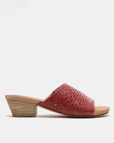 SOA Holly Slip On Heels Red