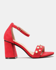 SOA Peach Heels Red