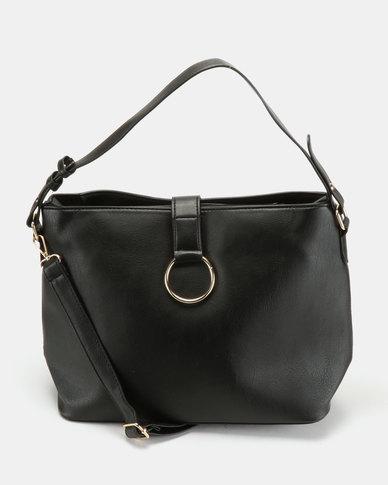 Utopia O Ring Handbag Black