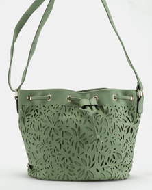 Utopia Lasered Drawstring Bag Green
