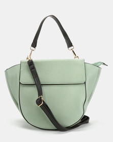 Utopia Flap Handbag Green