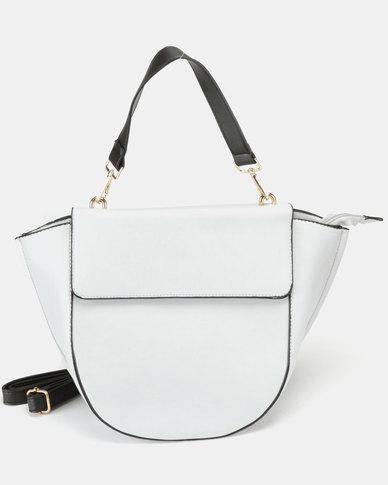 Utopia Flap Handbag Grey