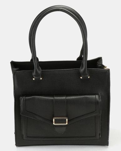Utopia Double Strap Handbag Black