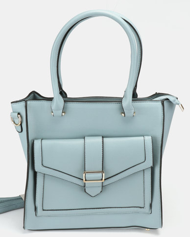 Utopia Double Strap Handbag Blue