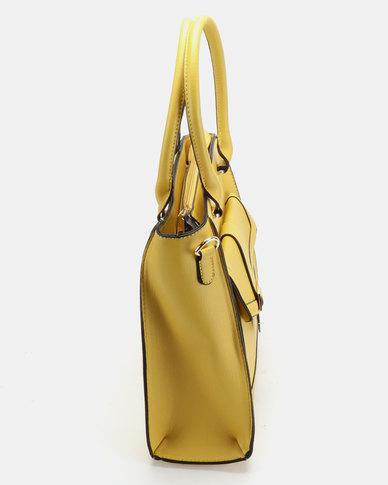 Utopia Double Strap Handbag Mustard