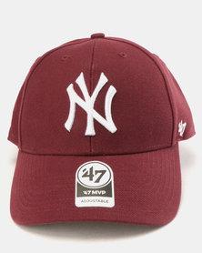47 Brand New York Cap Dark Maroon