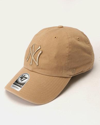 aab7751c50b 47 Brand Clean Up New York Cap Brown
