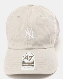 47 Brand New York Yankees Base Runner Clean Up Cap Grey