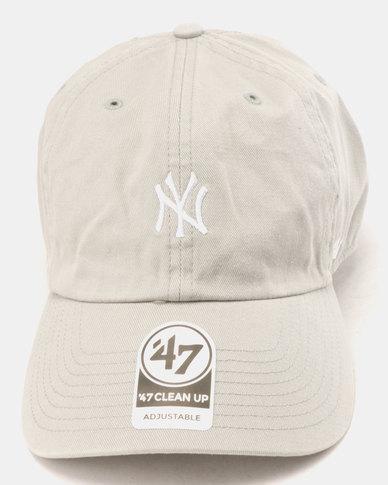 13e642076bb 47 Brand New York Yankees Base Runner Clean Up Cap Grey