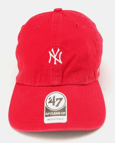 be2dcfe04e249 47 Brand New York Yankees Base Runner Clean Up Cap Red