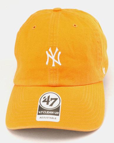 60a0423acd7 47 Brand New York Yankees Base Runner Clean Up Cap Orange