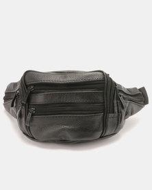 Blackchilli Vintage Faux Leather Moonbag Black