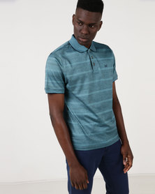 JCrew Turquoise Fancy Design Mercerise Golfer Blue
