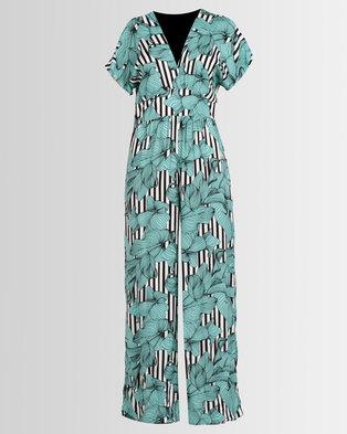 f2559af2bd89 Utopia Stripe Culotte Jumpsuit Sea Green .