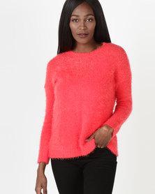 Legit Fluffy Pullover Orange