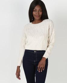 Legit Cable Pullover Cream