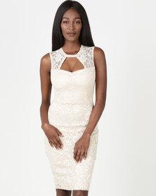 Legit Lace Bodycon Dress Champagne