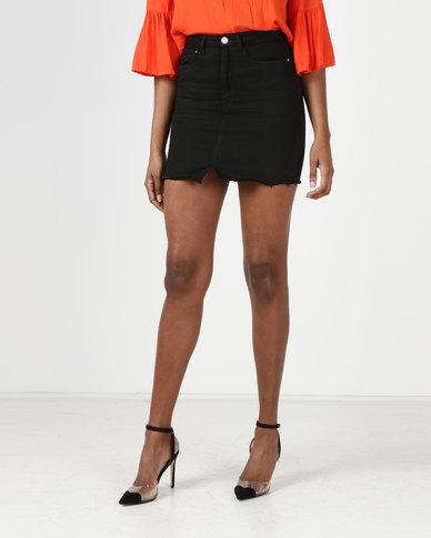 Brave Soul Denim Skirt Black