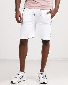 Smith & Jones Penyar Fleece Shorts White