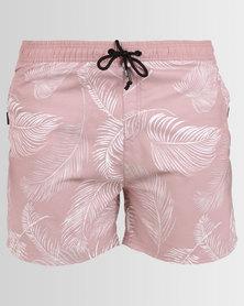 Smith & Jones Stena Floral Swimshorts Deauville Mayve Pink