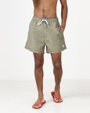 Smith & Jones Arone Swim Shorts Dust Olive