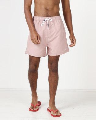 Smith & Jones Arone Swim Shorts Deauville Mauve Pink