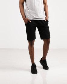 Born Rich Vincent Knit Jog Shorts Black
