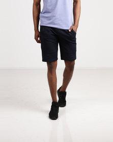 Born Rich Vincent Knit Jog Shorts Blue