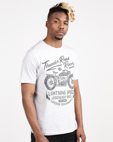 Life & Glory Kosti T-Shirt Grey Marl