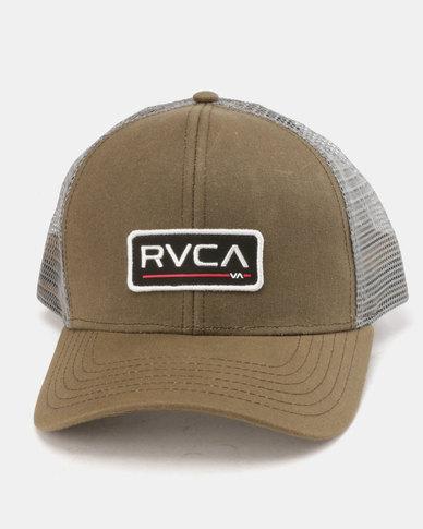 55144ed9861 RVCA Ticket Trucker Cap Olive