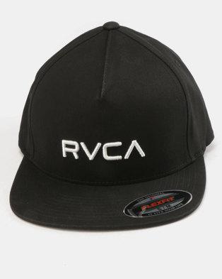 RVCA Sport Flexfit Cap Black