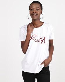 RVCA Inkwell Tee Vintage White